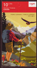 CANADA 2011 PARKS BOOKLET UNMOUNTED MINT