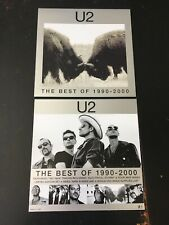 U2 Best Of 1990-2000 Promo Poster Flat 12�x12� Double-sided Set Of 2 Rare
