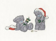 "DMC NATALE Tatty Teddy ""christmas cracker"" CROSS STITCH KIT"