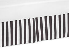 Black White Stripe Baby Crib Skirt Dust Ruffle For Sweet Jojo Paris Bedding Set