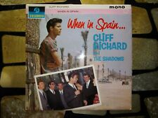 CLIFF RICHARD AND THE SHADOWS - WHEN IN SPAIN LP - COLUMBIA  BLUE / BLACK LABELS