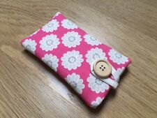 iPhone 7 / 7 Plus Padded Case Made With Clarke & Clarke Daisy Raspberry Fabric