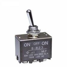 1) Toggle Switch DPDT ON-OFF-ON HIGH SCREW LUG 30A (amp) 30VDC (volt) 125VAC