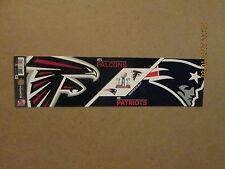 NFL Falcons Patriots Super Bowl LI Logo Football Bumper Sticker