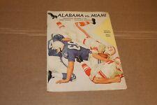 1962 Alabama Vs Miami - original college football program