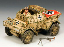 KING & COUNTRY AFRIKA KORPS AK085 WW2 GERMAN DAIMLER DINGO ARMORED CAR MIB