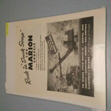 New listing 1940's WWII Crane AD Marion Steam Shovel CO Ohio Man Cave