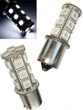 White LED #1156 Park Parking Back Up Tail Light Turn Signal Lamp Bulbs Pr 18SMD