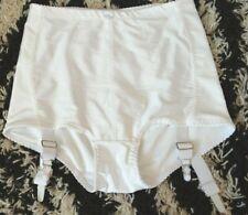 White shapewear suspender girdle Knickers 12-14