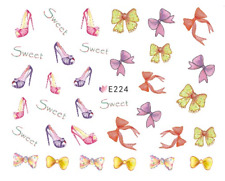 Nail Art 3D Decals Transfers Stickers Jo Bows Heels (E224)