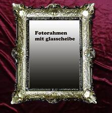 Gold Schwarz Bilderrahmen Fotorahmen Rahmen mit Glas Barock Antik 30*40 bilder