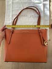 Michael Kors Voyager Bag 30T9GV6T9L Burnt Orange 2 Straps Brand New LG EW Tote