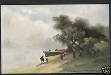 """Artist Postcard - """"The Wherry"""" After The Original By Prof. Van Hier  1918"""