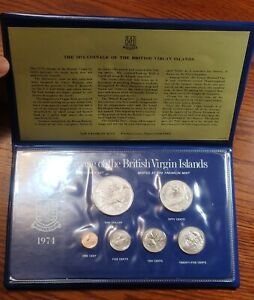 British Virgin Islands 1974 Mint set, w/original pack COA(Sterling Dollar)