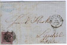 Baden Brief mit Mi.-Nr.4b -87 Mannheim vom 15.4.1861 (MICHEL EURO 120,00)