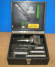 WOHLHAUPTER UPA-3 BORING FACING HEAD + ACCESORIES + CASE W/MOORE SHANK