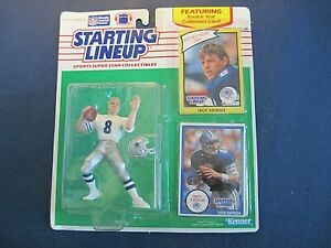 1990 Starting Lineup Figure with 1989 Rookie Year Card - Troy Aikman - NIP