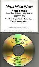 WILL SMITH w/ KOOL MOE DEE & DRU HILL Wild West EDIT MISSPELL PROMO DJ CD single