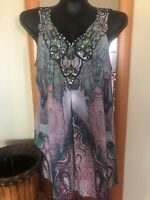 Women's Beautiful Mushka By Sienna Rose Med Tunic With Embellishments.