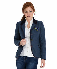 Polyester Patternless Blazer Coats & Jackets for Women