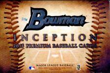 2015 Bowman Inception Baseball Hobby Box Sealed 5 autographs