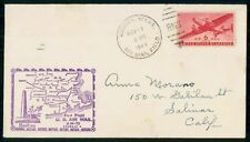 FIRST FLIGHT BOSTON - SPRINGFIELD AM-79  AIR MAIL  USA COVER 1949 + BACKSTAMP