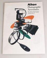 NIKON PHOTOGRAPHIC ACCESSORIES BOOKLET
