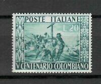s21576) ITALIA 1951 MNH**Nuovi** Colombo 1v