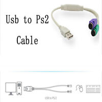 Cable Adapter Adapter USB To PS2 Cord Cable Converter for For Keyboard Mouse