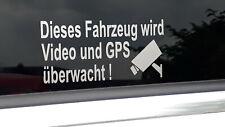 Aufkleber - Dieses Fahrzeug wird Video und GPS überwacht - 2 Stück