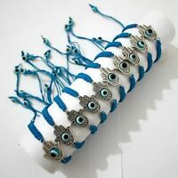 Success Good Luck Hamsa HAND Evil Eye String SKY Kabbala Bracelets HOLY Charm