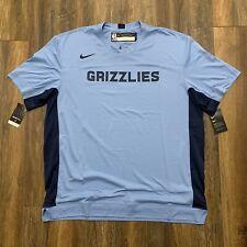 Nike Memphis Grizzlies Mens  NBA Team Issued Shooting Shirt Blue  AV0936-422