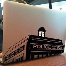 "DR WHO / PHONE BOX Apple MacBook Decal Sticker fits 11"" 13"" 15"" and 17"" models"
