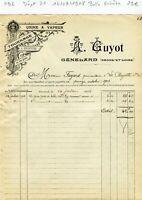 Dépt 71 - Génelard - Belle Entête Tournage & Sculpture du 14/07/1908 A Voir !!!!
