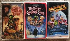 Jim Henson THE MUPPETS - Lot of 3 VHS Tapes - Clamshell Classics Collectible