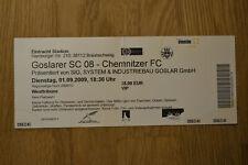 Sammlerticket - 2009/10  Goslarer SC - Chemnitzer FC