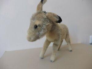 Steiff Esel ca. 28 cm lang, mit 50er-Jahre-Knopf, top!
