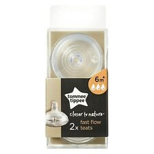 4 Tettarelle Biberon Tommee Tippee Closer To Nature Fast Flow 6+ m Flusso Veloce