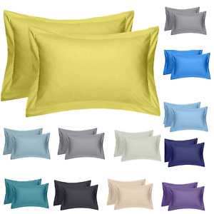 5* 400 THREAD COUNT 100% EGYPTIAN COTTON HOUSEWIFE /OXFORD PILLOW CASE PACK OF 2
