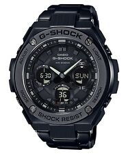 New Casio G-Shock G-Steel Tough Solar Black PVD Steel Men's Watch GSTS110BD-1B