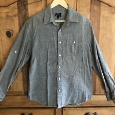 Mens Gap Classic Fit Grey Button Down Shirt Size M