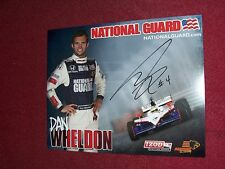DAN WHELDON SIGNED 8X10 PHOTO IRL RACING