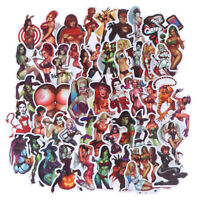 50Pcs Devil Beauty Graffiti Stickers for Skateboard Suitcase Laptop Guitar Car