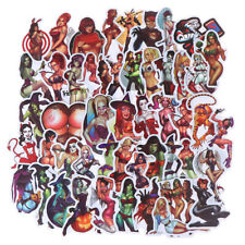 50Pcs Devil Beauty Graffiti Stickers for Skateboard Suitcase Laptop Guitar C^P