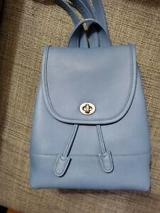COACH Light blue Daypack #9960 rare color htf