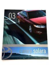 2003 Toyota Camry Solara Original Dealer Sales Brochure Catalog