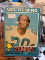 1971 Topps Mel Renfro Dallas Cowboys #118 Football Card🔥🔥🔥
