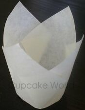 200PCS WHITE JUMBO TEXAS CAFE STYLE PAPER MUFFIN CUPCAKE WRAPS CUPS CASES LINERS