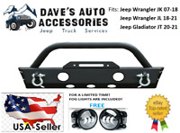 07-21 Jeep Wrangler JK JL Gladiator JT Short Stubby Front Bumper W/ Winch Plate
