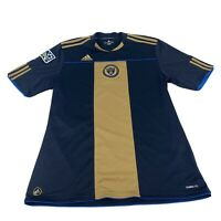 Mens Philadelphia Union MLS Adidas Climalite USA Soccer Football Jersey Size L